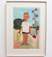 'Portrait of Boy with Pail and Shovel' by Raymond Dèbieve (circa 1960s)