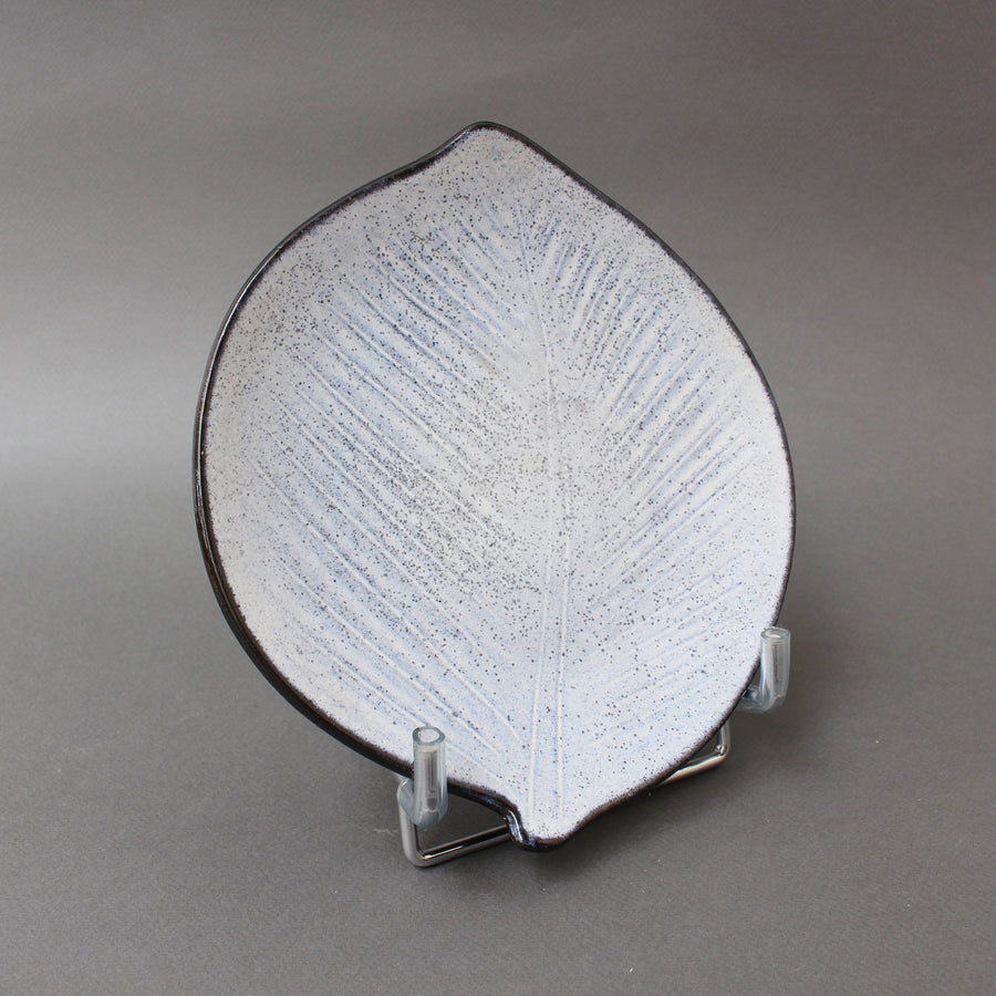 Mid-Century French Vintage Leaf-Shaped Dish / Vide-Poche by Marcel Guillot (circa 1960s)