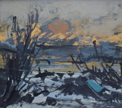 'Sunset in Provençal Wetlands' by Wilhelm Goliasch (1980)