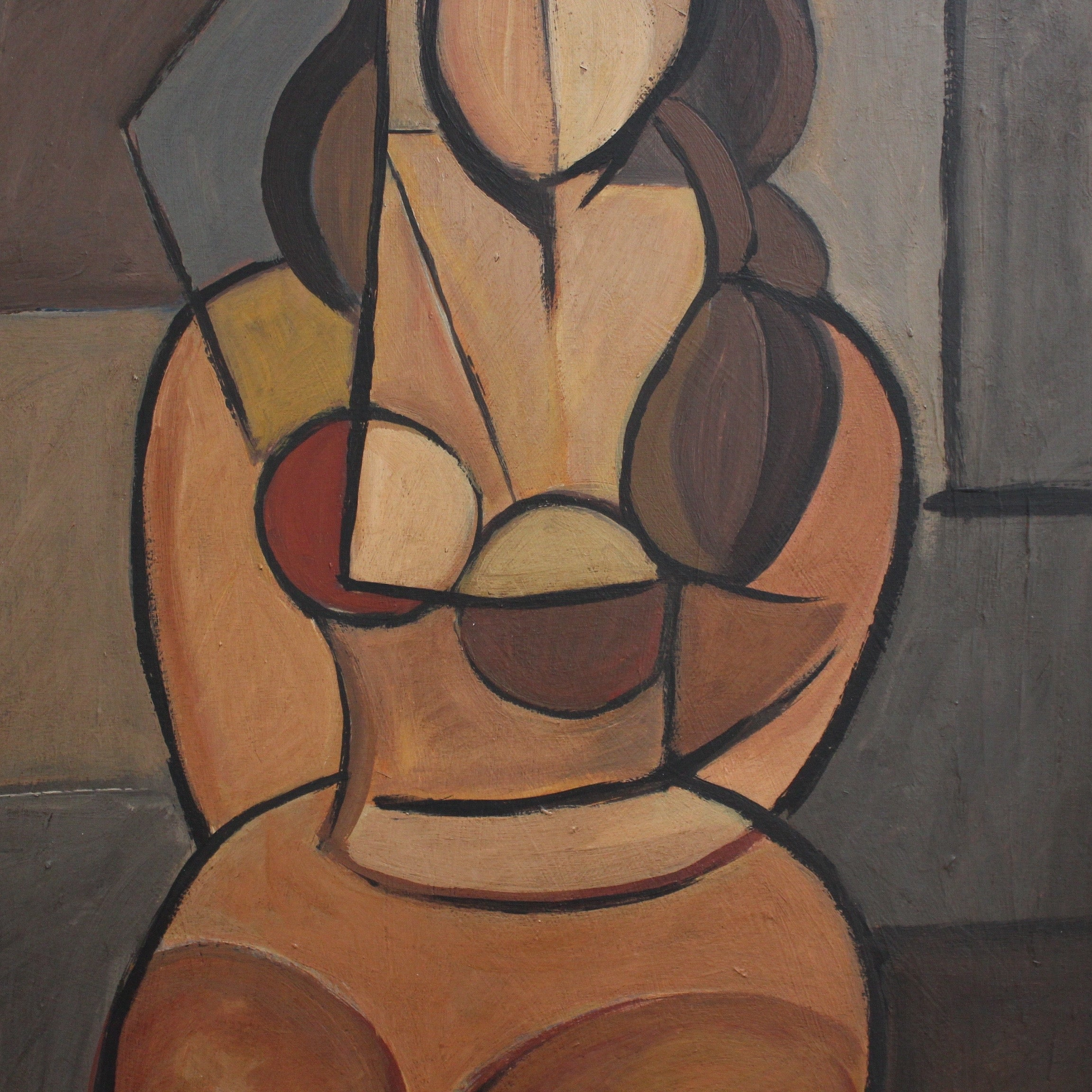 'Seated Cubist Nude' by STM (circa 1950s)