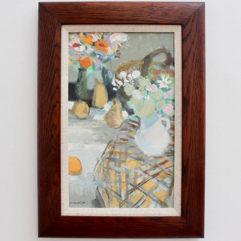 'Still Life with Flowers and Fruit' by Jacques Petit (circa 1970s)