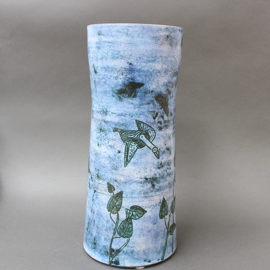Mid-Century French Ceramic Vase by Jacques Blin (circa 1950s) - Large