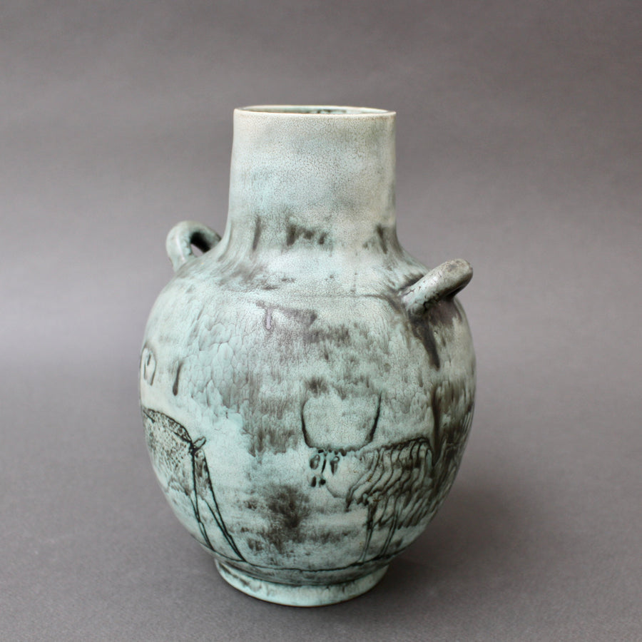 Mid-Century French Ceramic Vase by Jacques Blin (circa 1950s)