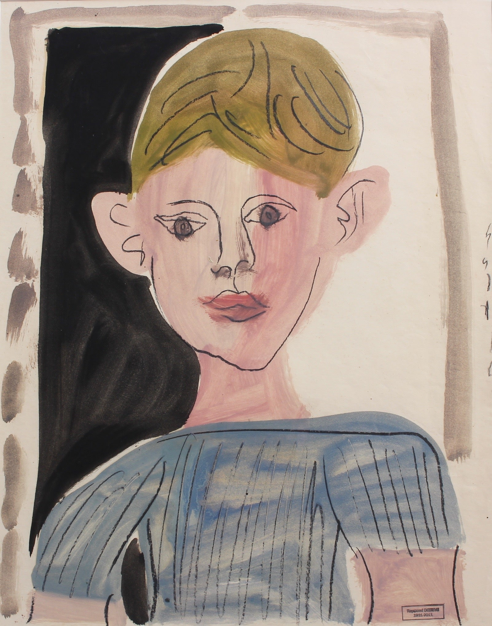 'Portrait of a Young Boy' by Raymond Dèbieve (circa 1960s)