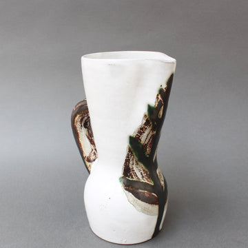 Vintage French Ceramic Pitcher by Le Grand Chêne (circa 1950s)
