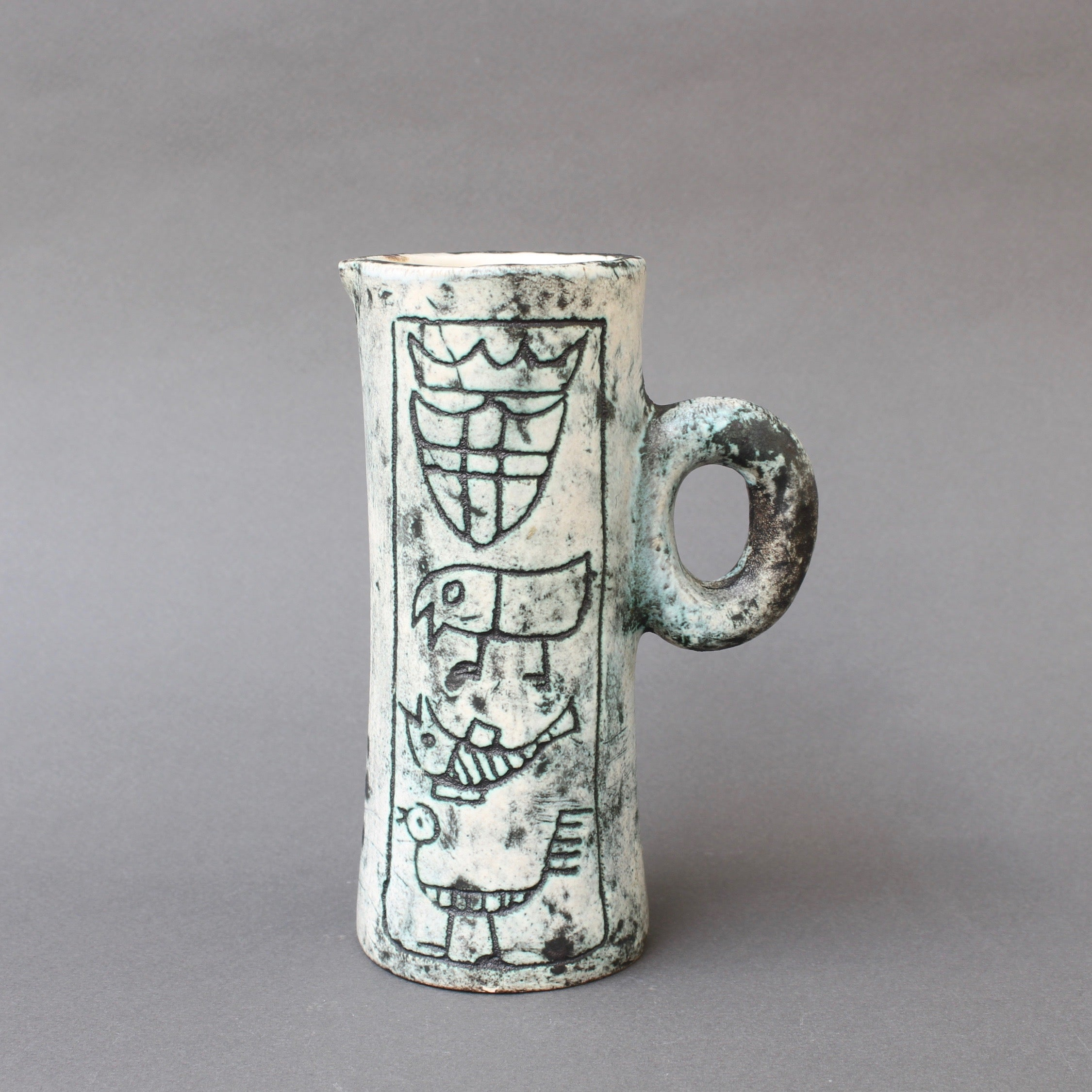 Mid-Century Ceramic Decorative Pitcher by Jacques Blin (circa 1950s) - Small