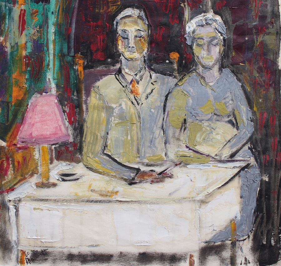 'Portrait of the Owners of the Cheval d'Or Paris' by René Hamiot (1960)