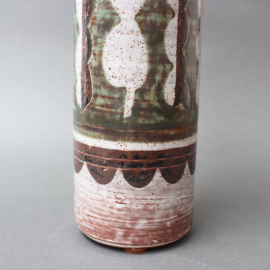 Vintage French Ceramic Flower Vase by Michel Barbier (circa 1960s)