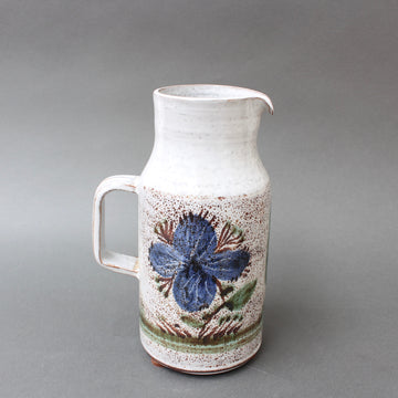 Vintage French Ceramic Pitcher by Michel Barbier (circa 1960s)
