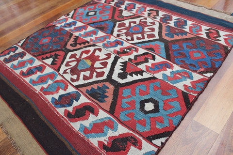 Turkish Kilim Antique Rug (c. Early 1900s)