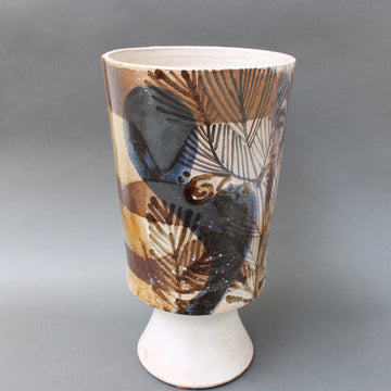 French Ceramic Decorative Vase by Jean Derval (1990) - Large
