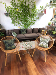 Pair of Mid-Century French Rattan Chairs (circa 1960s)