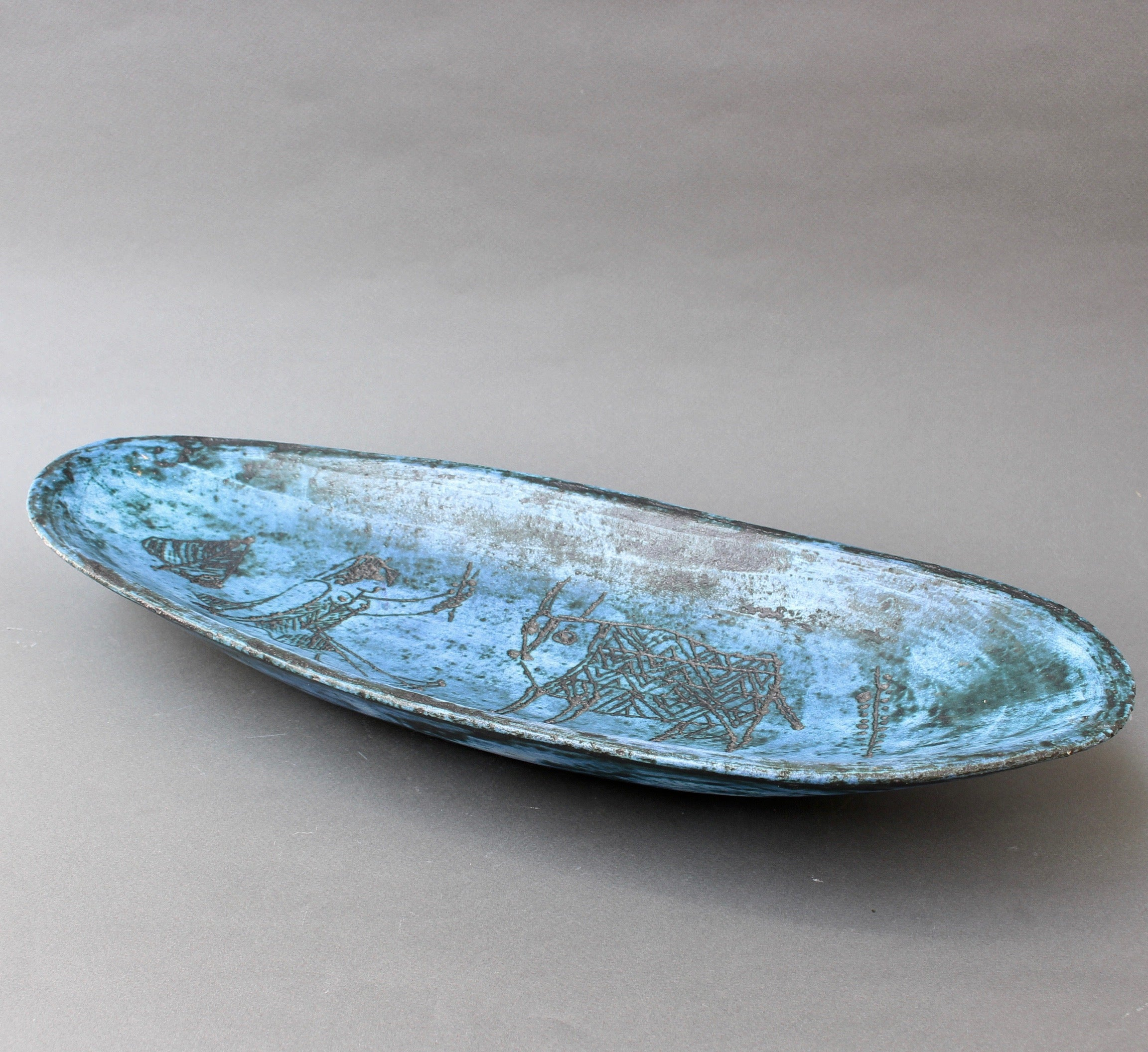 Ceramic Decorative Tray by Jacques Blin (circa 1950s)