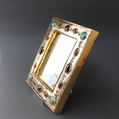 Ceramic Wall Mirror by François Lembo (circa 1960s - 70s)