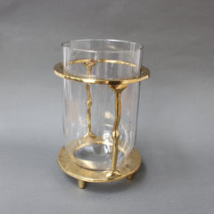 Brass and Glass Vase / Wine Bucket by David Marshall (circa 1970s)