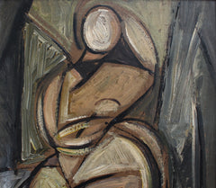 'Reclining Nude' by STM (circa 1940s - 1950s)