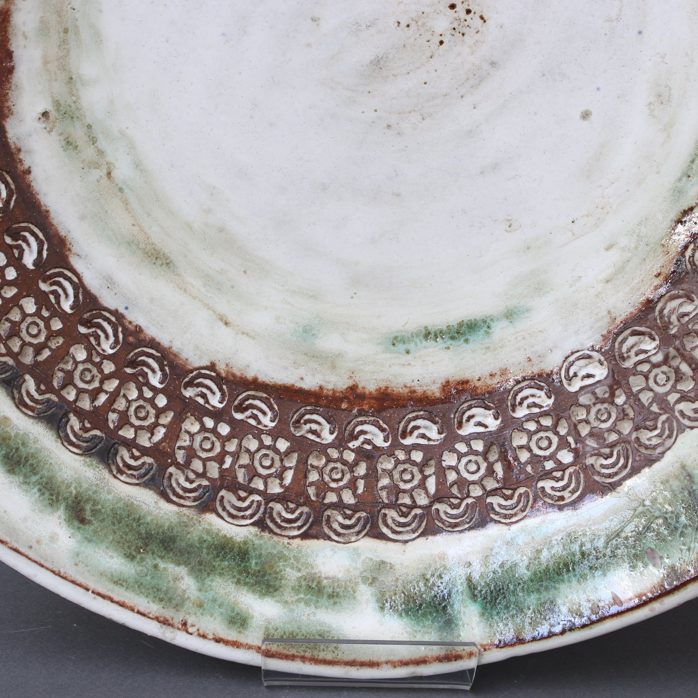 Large Mid-Century Decorative Platter by Albert Thiry (circa 1960s)