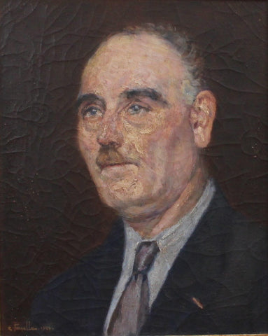 Portrait of Suited Man by Ernest Pernelle (1944)