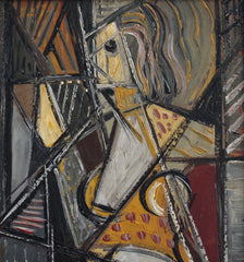 'Portrait of Nude Woman in the Mirror' by Unknown Artist (circa 1940s - 1950s)