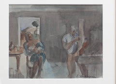 'Carpenter and Nursing Mother' by Pierre Ambrogiani (c. 1960s)