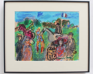 'The Parade Ring at the Races' by Maurice Empi (circa 1970s)