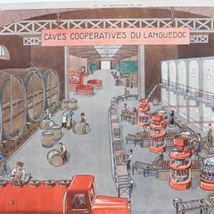 Vintage French School Poster - 'La Fabrication du Vin' (Circa 1950s - 1960s)