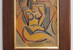 'Portrait of a Sunbathing Nude' by G.D.S. (circa 1940s - 1950s)