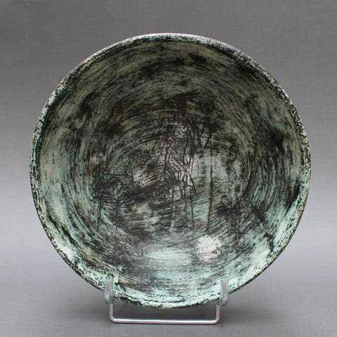 Ceramic Bowl with Stylised Décor on Four Legs by Jacques Blin (Circa 1950s)
