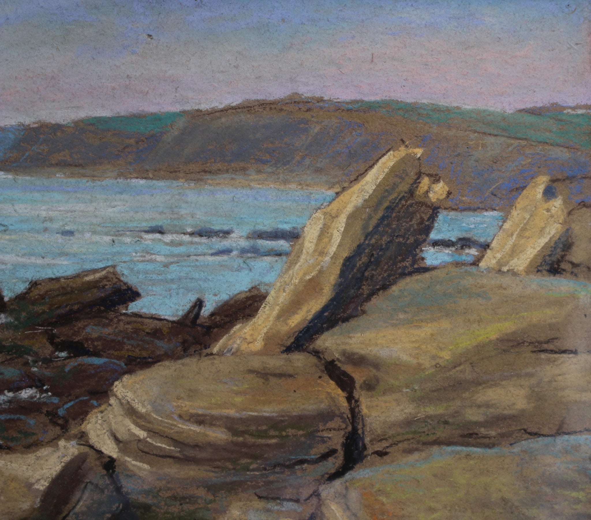 'Rocky Shore Audresselles, France' by Marcel Degueldre (c. 1930s)