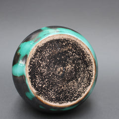 Black and Green Ceramic Vase by Primavera (Circa 1930s)