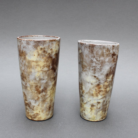 Set of Two Ceramic Vases by Alexandre Kostanda (Circa 1960s)