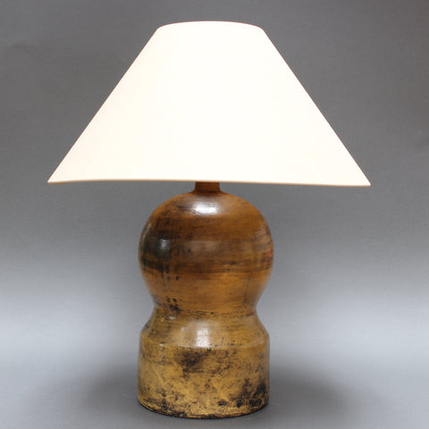 Ceramic Gourd-Shaped Lamp by Jacques Blin (Circa 1950s)
