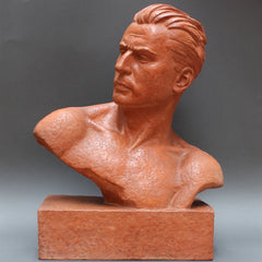Art Deco Sculpture Bust of Man by Demétre H. Chiparus (Circa 1930s)