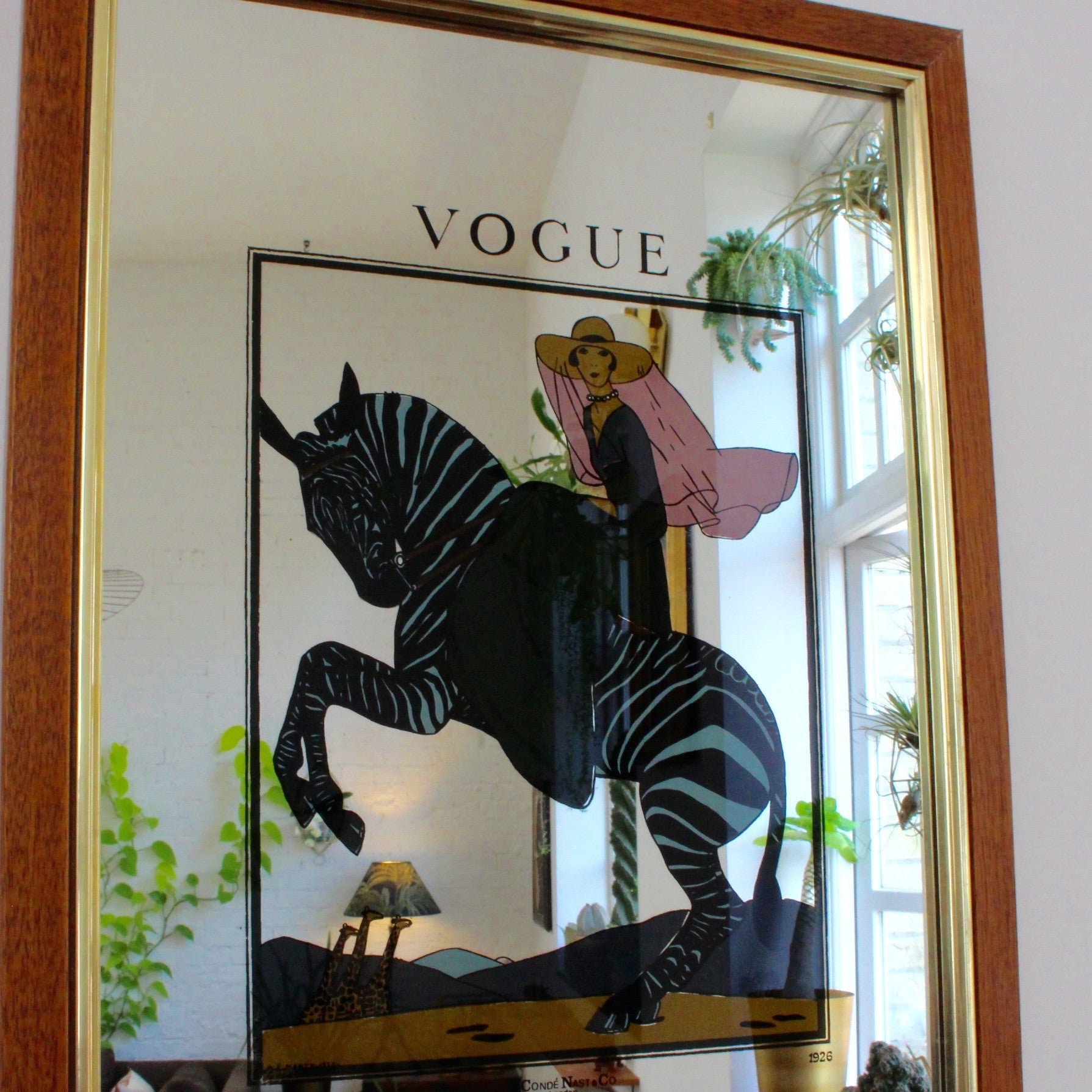 Vogue Magazine Cover Art Deco Mirror (c. 1980s)