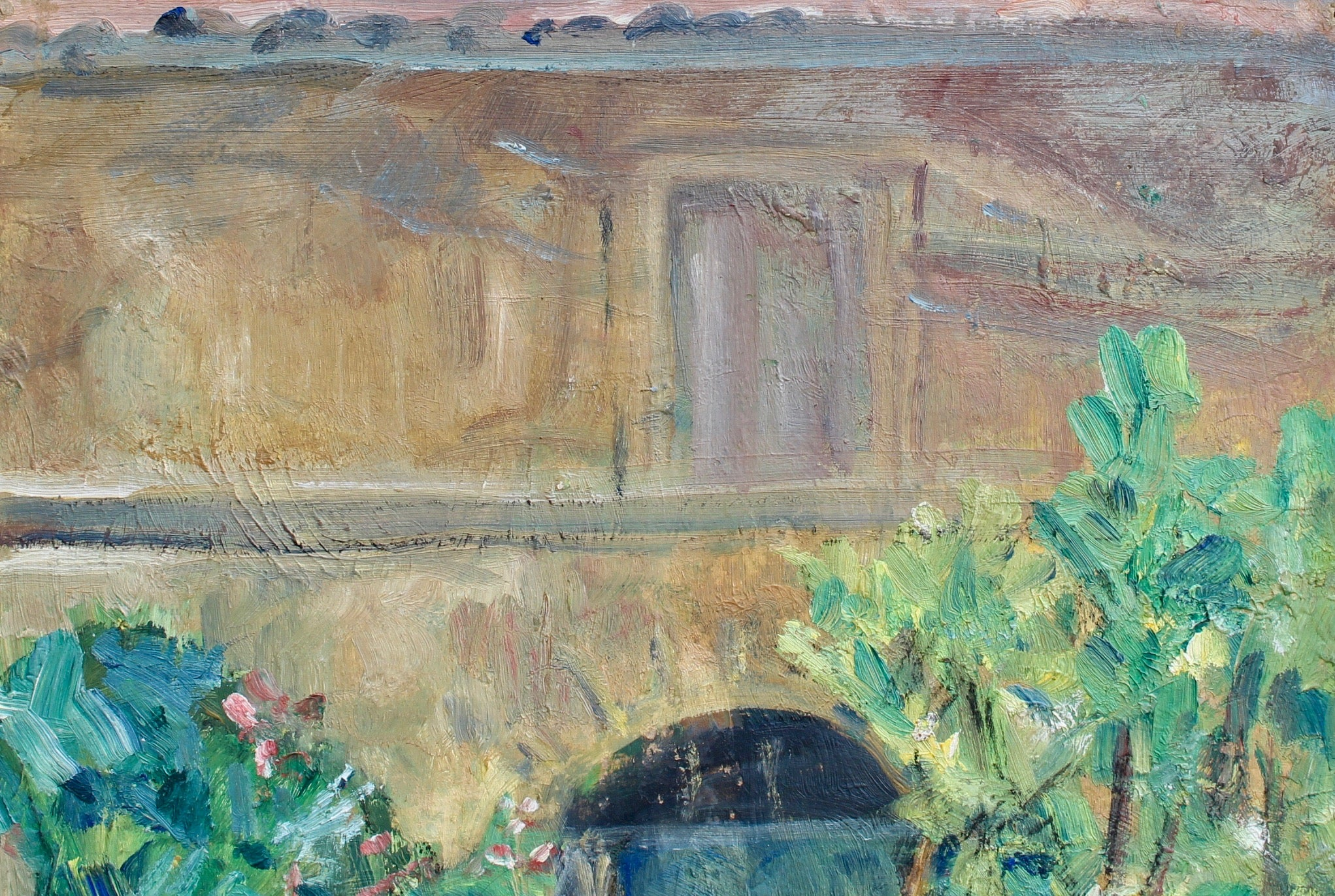 'Villa Courtyard in Provence', French School (circa 1930s)