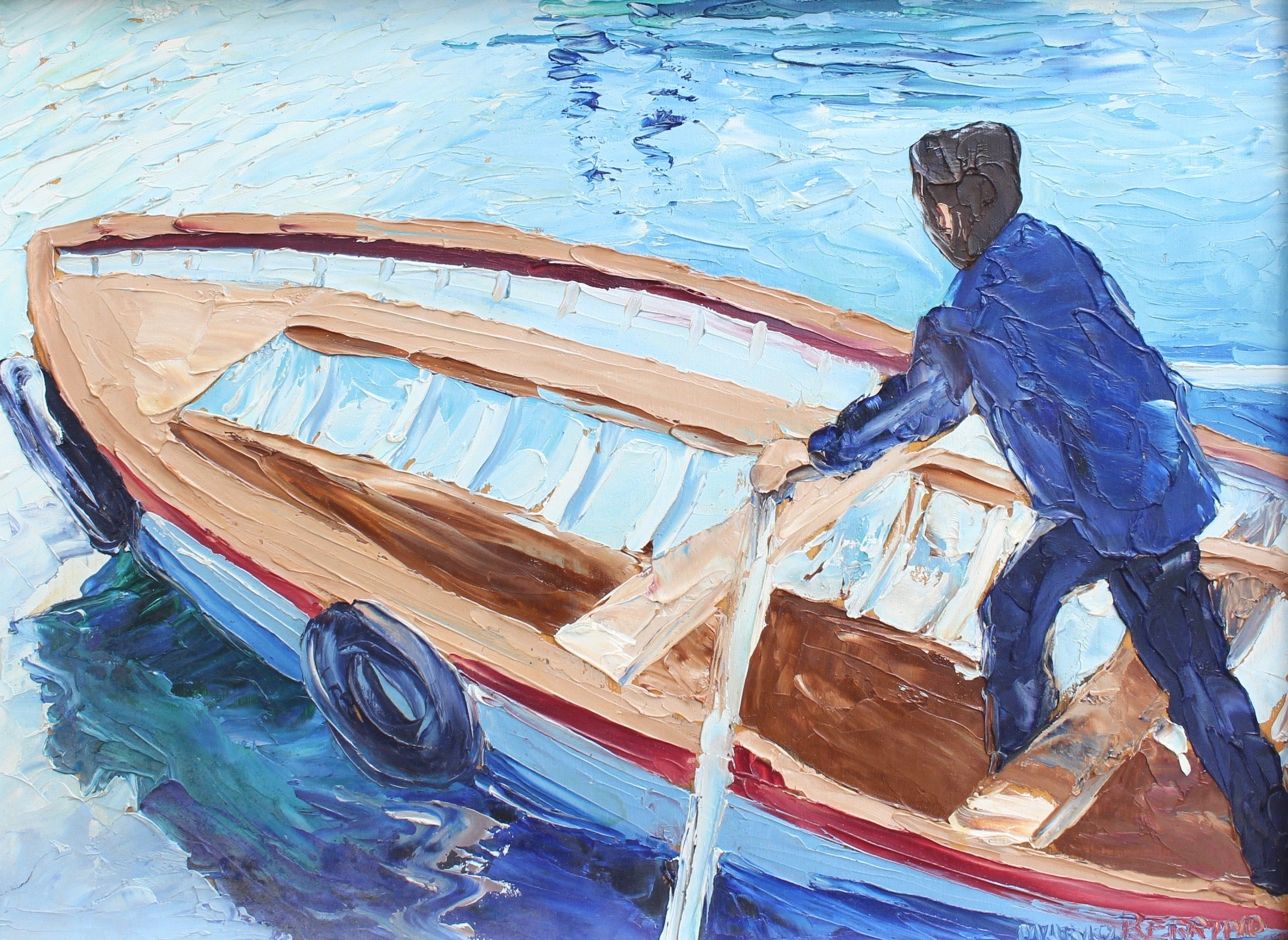 'The Man in the Boat' by Mario Berrino (circa 1970s)