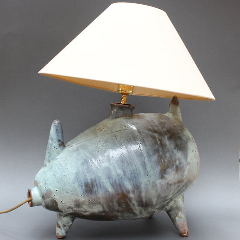 Porcine Ceramic Table Lamp (circa 1960s)