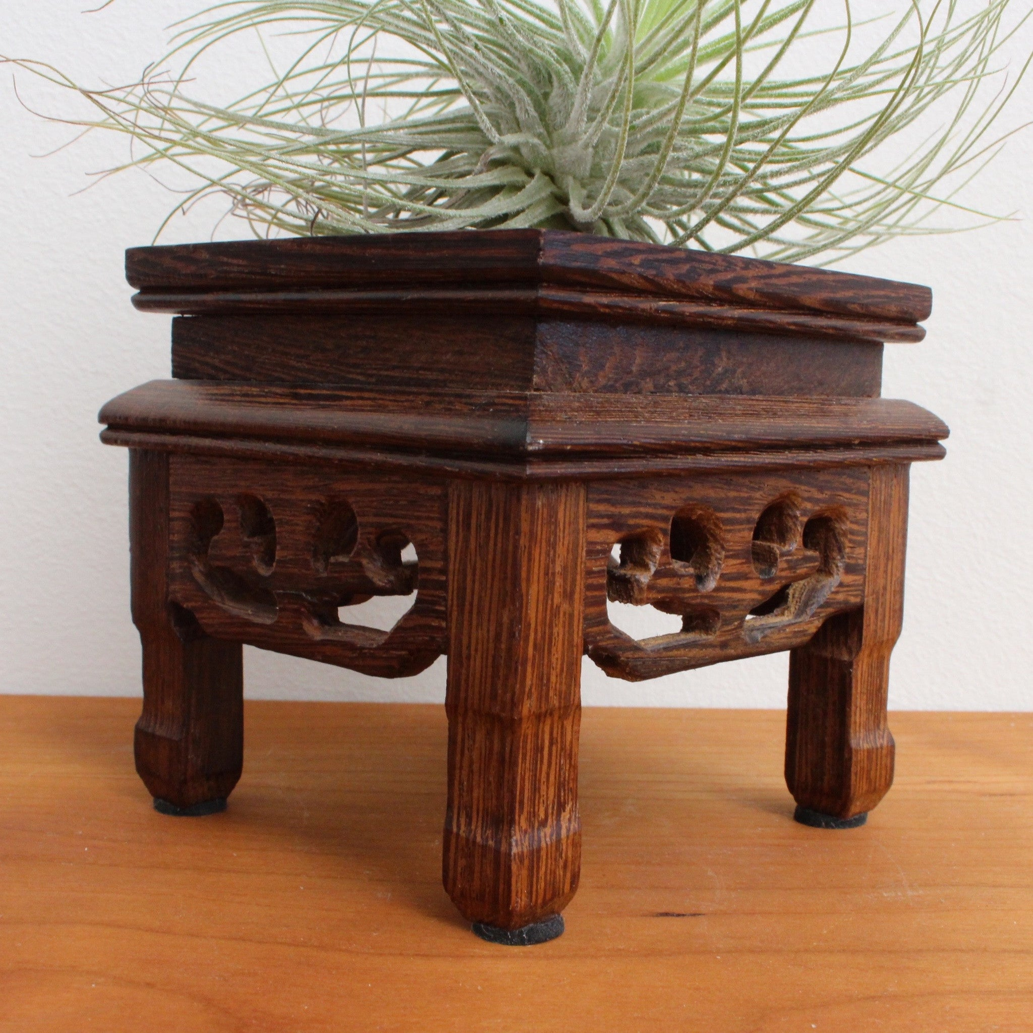 Miniature Chinese Wooden Table Display Stand