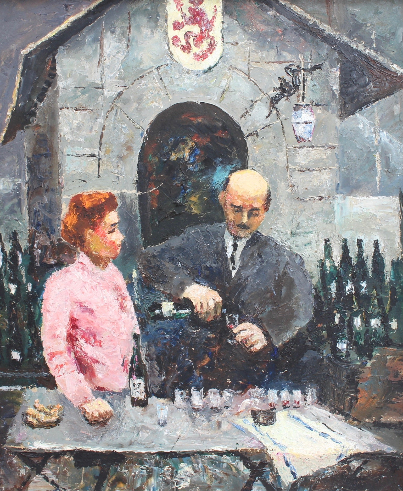 'The Wines of Bergerac at the Paris Fair' by Germaine Nordmann (circa 1960s)
