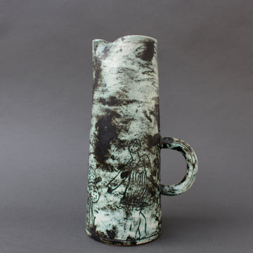 Mid-Century Ceramic Decorative Pitcher / Vase by Jacques Blin (circa 1950s)