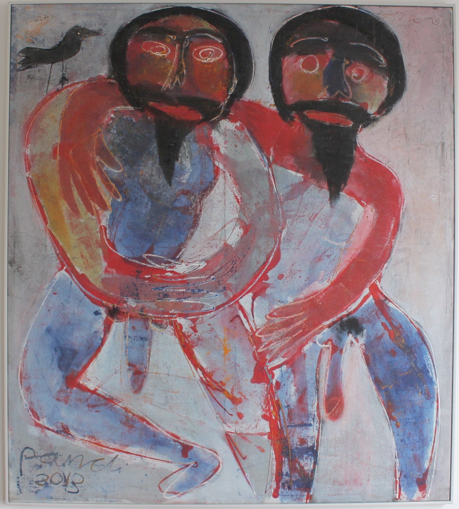 'Two Bearded Men' by Pandi (I Nyoman Sutaria) (2013)