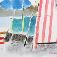 'The Beach at La Spezia' by Enrico Paulucci (circa 1960s)