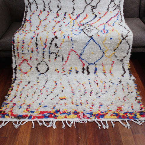 Vintage Azilal Wool Tribal Rug