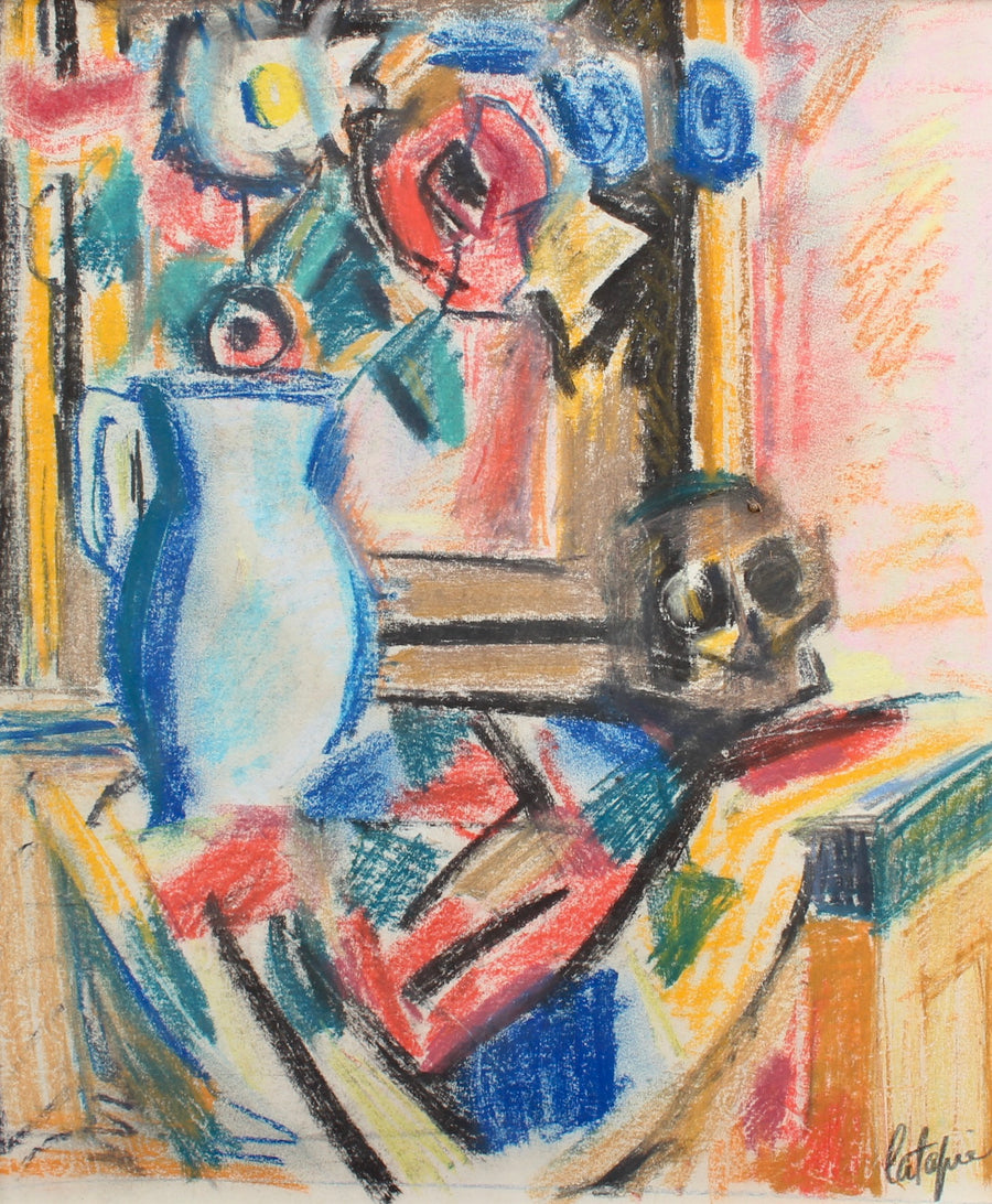 'Bouquet of Flowers with Vanitas' by Louis Latapie (circa 1930s)