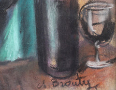 'Men Drinking Wine in French Algeria' by Charles Brouty (circa 1930s)