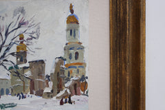 'Orthodox Christian Church in Winter' by Unknown (Circa 1970s)