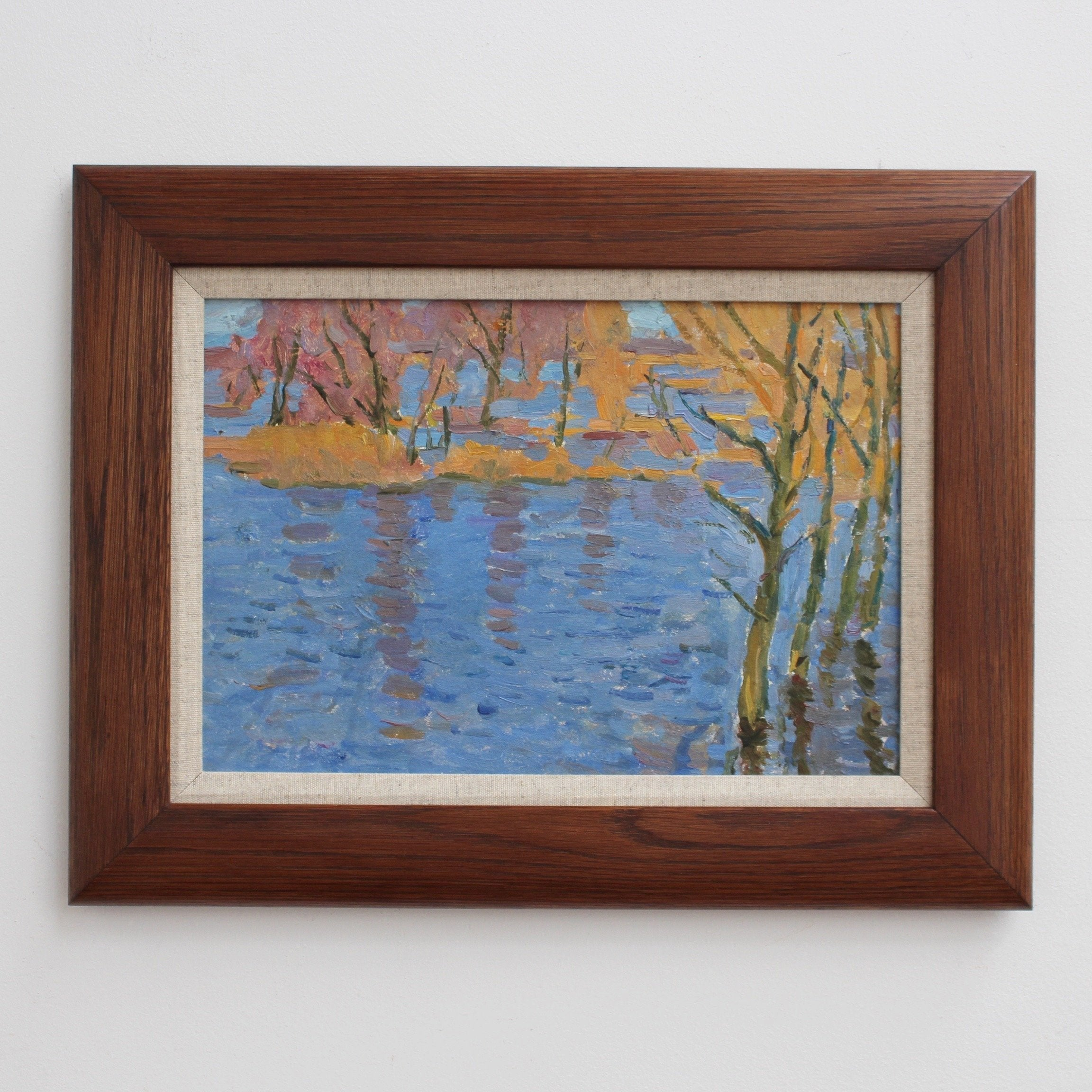 'Autumnal Lake' by Unknown (Circa 1960s)