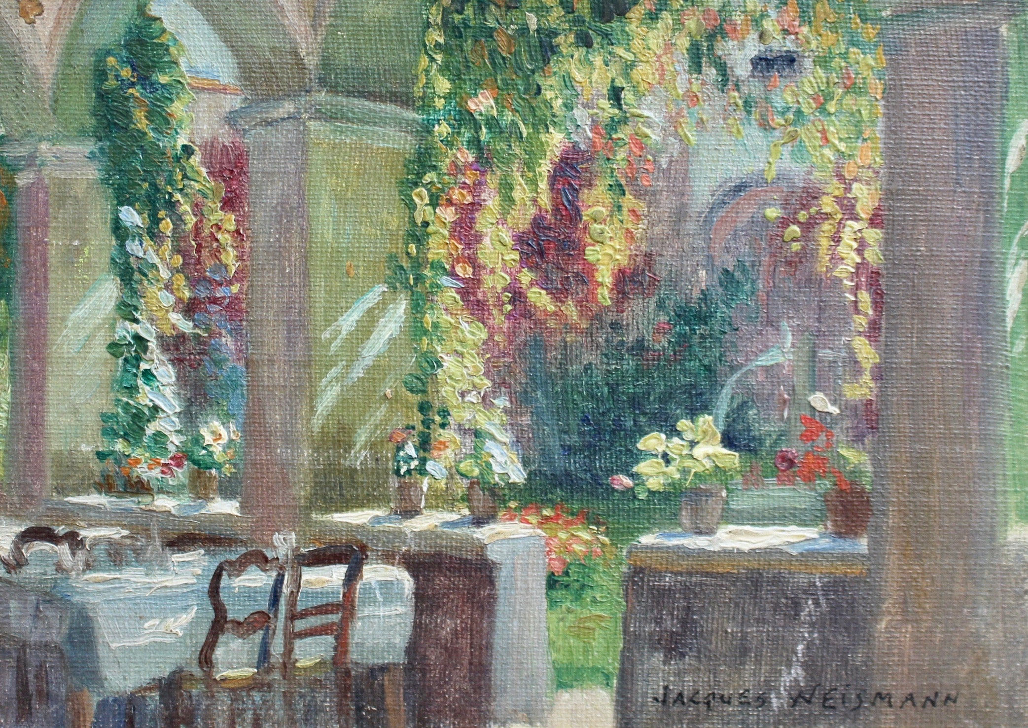 'Garden Restaurant at Lake Annecy', by Jacques Weismann (circa 1920s)