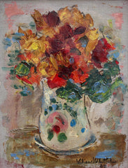 'Floral Bouquet in Painted Vase' by Lilian E. Whitteker (1968)