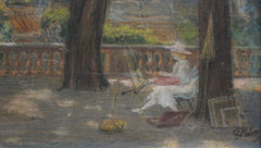 'Painter in the Jardin de Luxembourg, Paris' French School (1919)